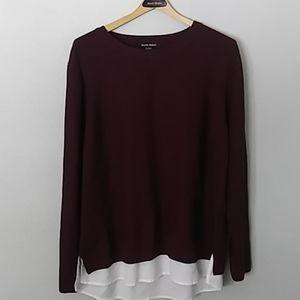 Hilary Radley long sleeve 2fer sweater